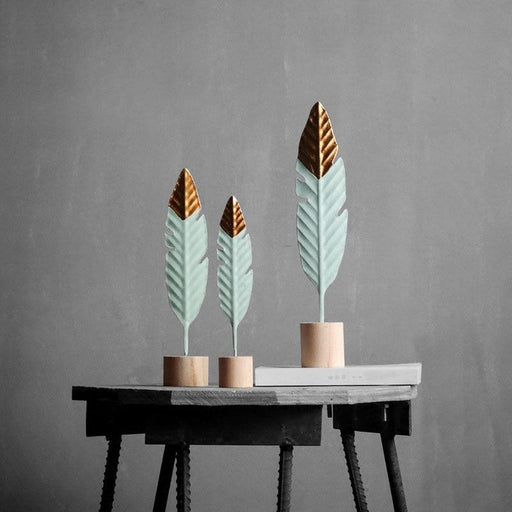 Kitchen Decorations & Accessories - Modern Feather Wooden Simple Miniature Decoration