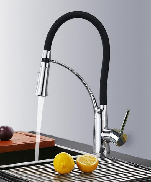 Kitchen Faucet - Deck Mount Single Handle Stream Sprayer Kitchen Faucet With Bracket