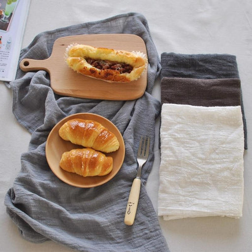 Kitchen Linens - Solid Simple Cotton Linens Table Dishcloth