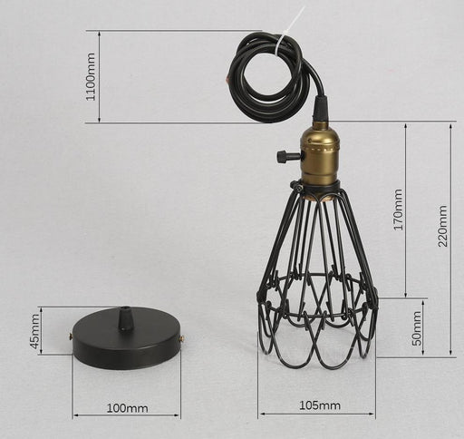 Lamp Shades - Fashion Vintage Wire Lamp Cage Industrial Lamp Shade
