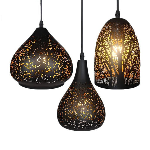 Pendant Lights - Vintage Shadow Lampshade Creative Hanging Lights