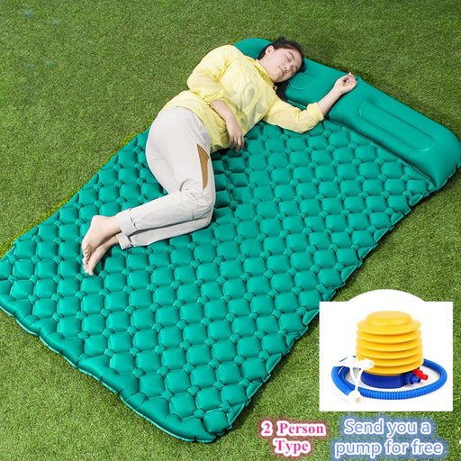 Picnic, Campig & Beach Mats - Tent Air Camping Mats Double Inflatable Cushion Soft Outdoor Blanket