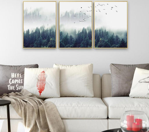 Posters & Prints - Nordic Decoration Forest Landscape Poster & Print Wall Art