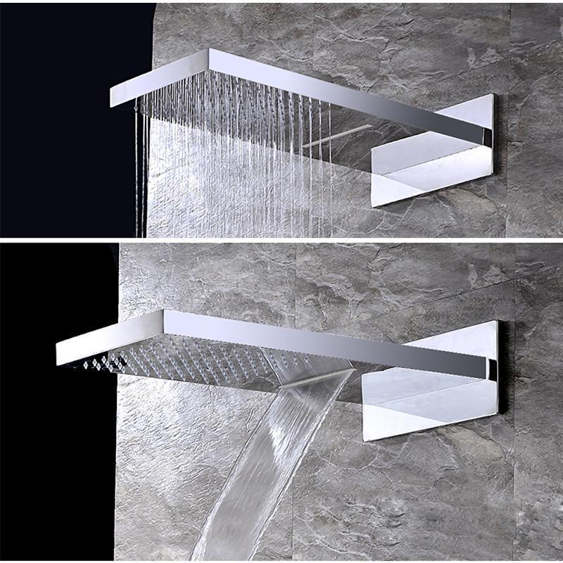 Rain Shower Heads - 2 Function Wall Mount  Shower Head