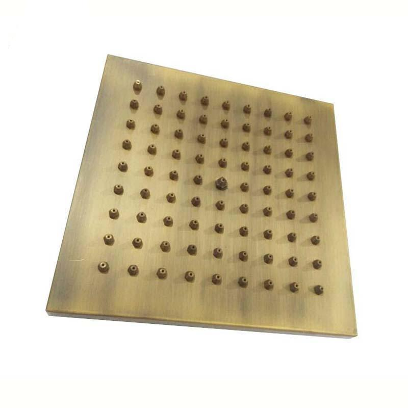Rain Shower Heads - Antique Brass Square Rainfall Shower Head