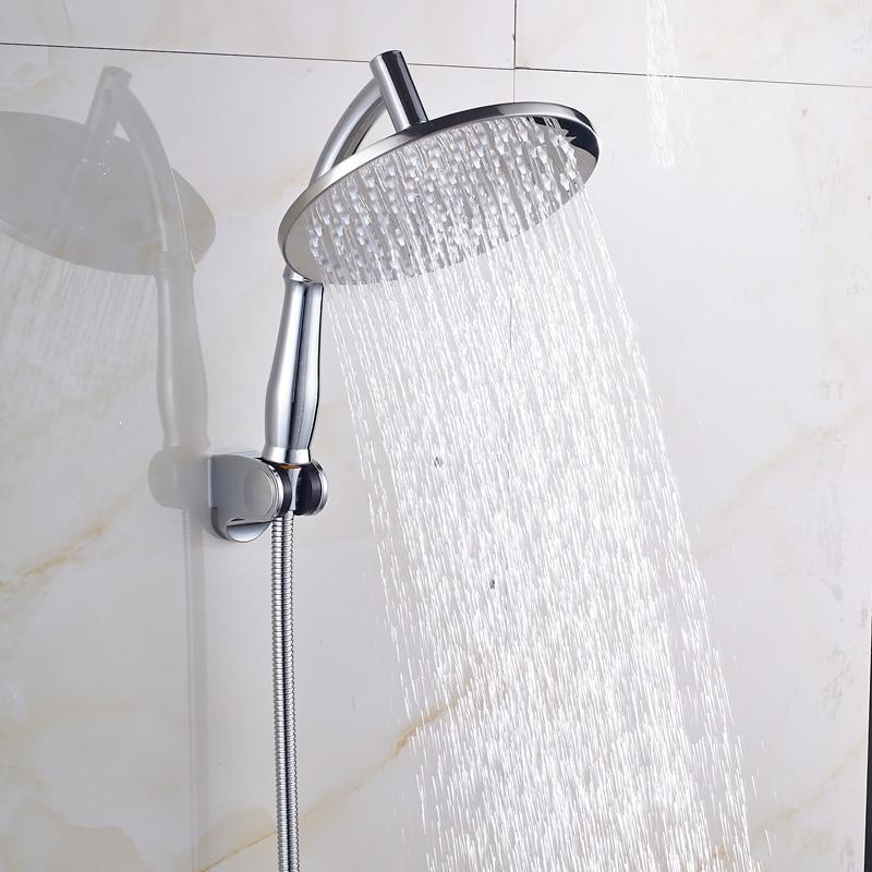 Rain Shower Heads - Handheld Shower Arm With Wall Mounted Bracket Holder And Shower Hose