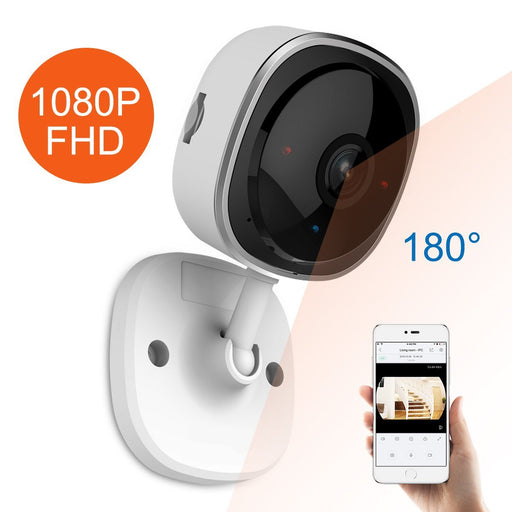 Security Cameras - Full HD Fisheye IP Wireless Camera Security WIth Night Vision