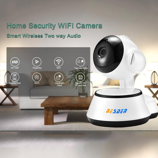 Security Cameras - Home Security IP Camera Wireless Smart WIFI With Audio Record