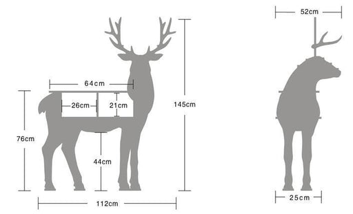 Shelf - Large Creative Reindeer Storage Shelf Furniture