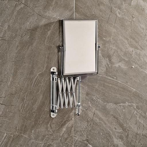 Shower Accessories - Bathroom Extended Folding Arm Square Wall Mounted Makeup Mirror