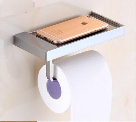 Shower Accessories - Brass Finished Bathroom Toilet Paper Holder Roll