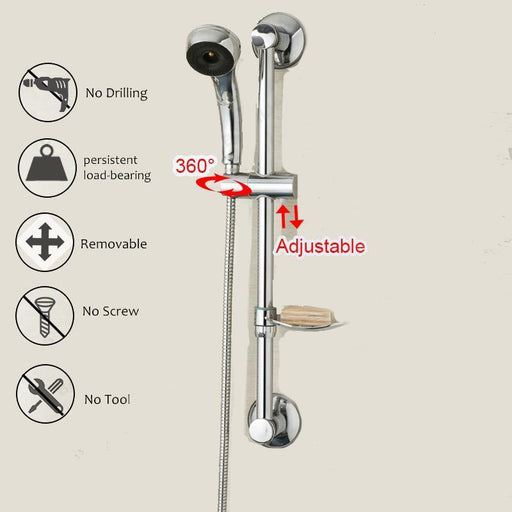 Shower Arm & Bar - Stainless Steel Shower Sliding Bar Shower Head Rail Slider Holder