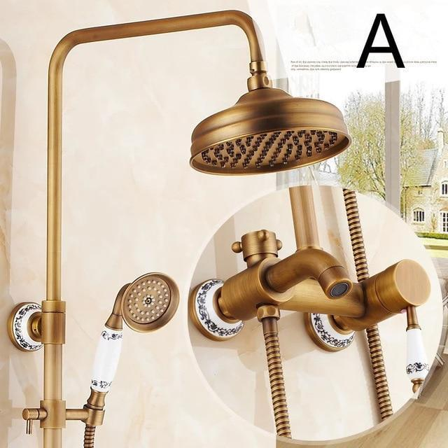 Shower Faucet - Antique Shower Bathtub Hot And Cold Faucet Sets