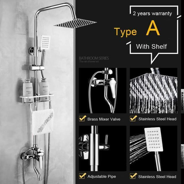 Shower Faucet - Shower Faucets With Storage Shelf