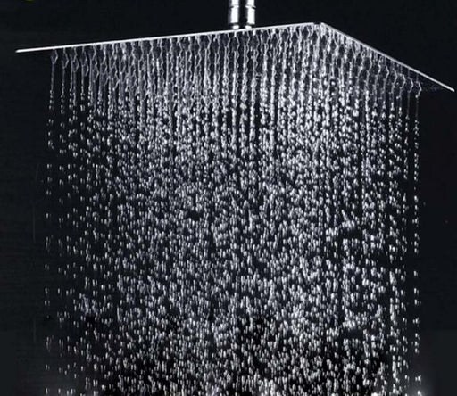 Shower System - Polished Chrome Square Bathroom Rain Shower Head