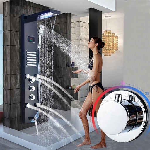 Shower System - Stainless Steel 5-Function Bathroom Shower