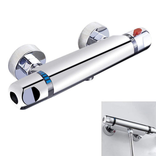 Temperature Control - Anti-Scald Chrome Thermostatic Bar Shower Mixer Valve