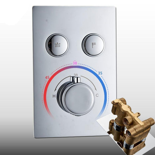 Temperature Control - Chrome Thermostatic Mixer Bath Shower And Faucet Control Valve