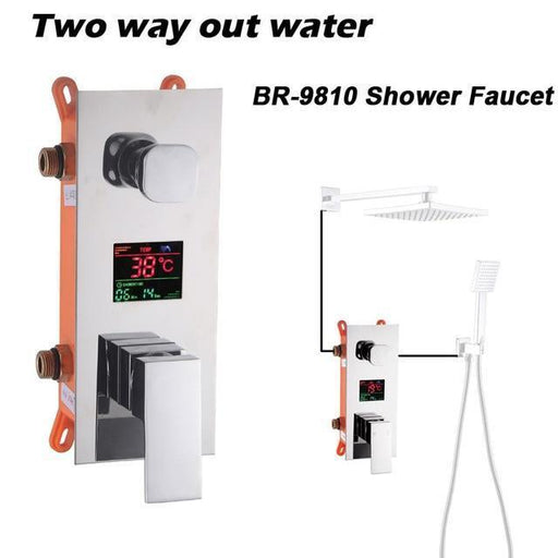 Temperature Control - Digitally Mounted Shower Mixer Valve Control With Smart Shower Panel