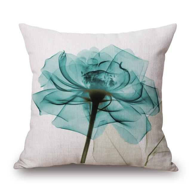Throw Pillows - Decorative Minimalist Tulip Linen Pillows