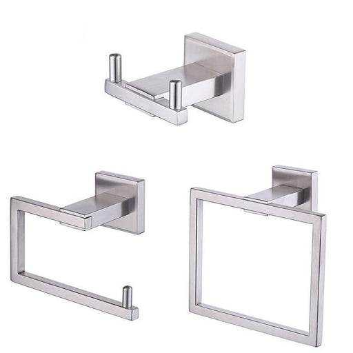 Towel Bars & Hooks - 3 Pcs Bathroom Accessories Holder Kit