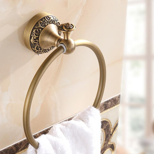 Towel Bars & Hooks - Art Carved Bathroom Towel Ring