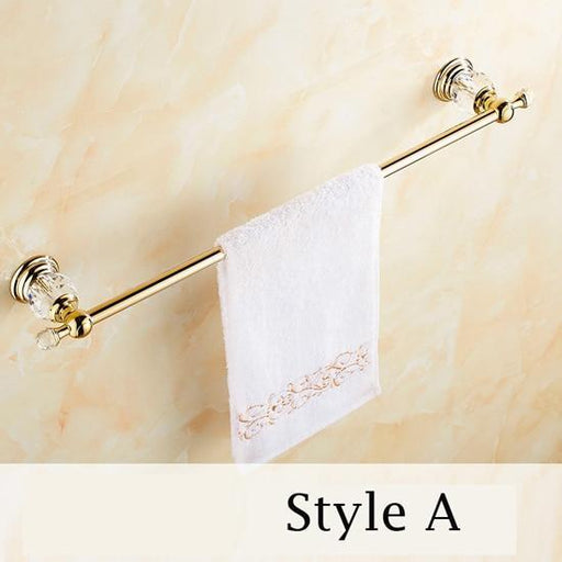Towel Bars & Hooks - Crystal Towel Holder Bar Bathroom Accessories