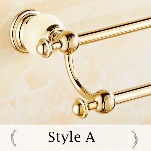 Towel Bars & Hooks - Double Bar Towel Holder