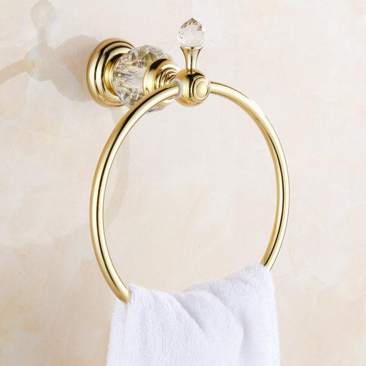 Towel Bars & Hooks - Luxury Crystal Towel Rings Bathroom Accessories