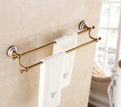 Towel Bars & Hooks - Luxury Wall Mount Double Towel Rack