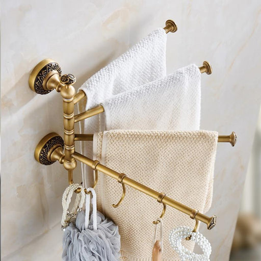 Towel Bars & Hooks - Rotating Bathroom Towel Bar