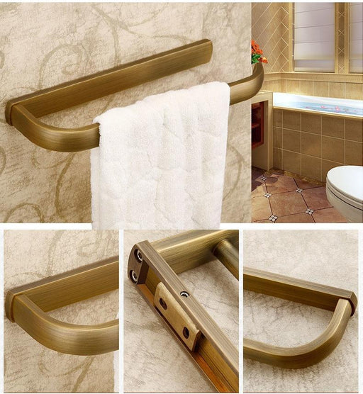 Towel Bars & Hooks - Wall Mount Short Single Bar Towel Ring