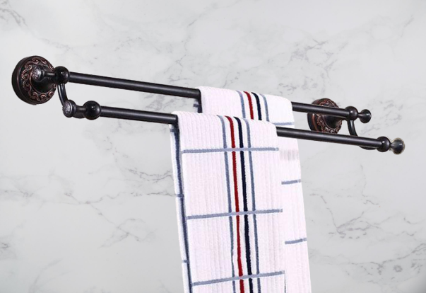 Wall Mounted Double Towel Bar Bathroom Accessories