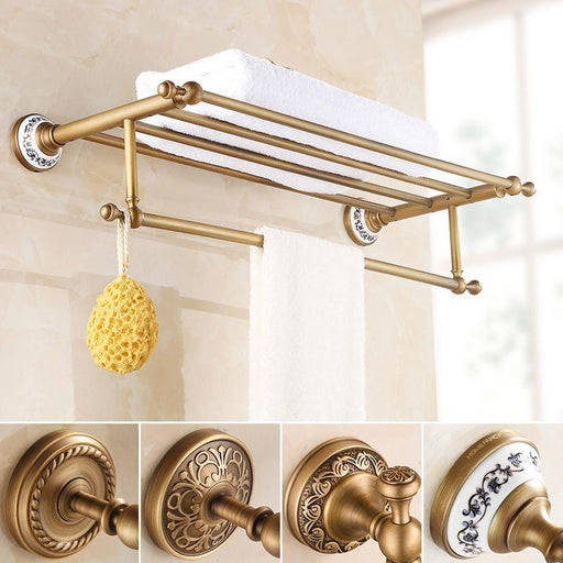 Towel Bars & Hooks - Wall Mounted Towel Shelf And Bar