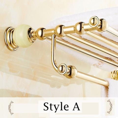 Towel Bars & Hooks - Wall Mounted Towel Shelf With Towel Bar Towel Holder