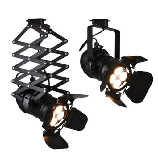Track Lighting - Retro Industrial Painted Tracking Ceiling LED Lamp Light