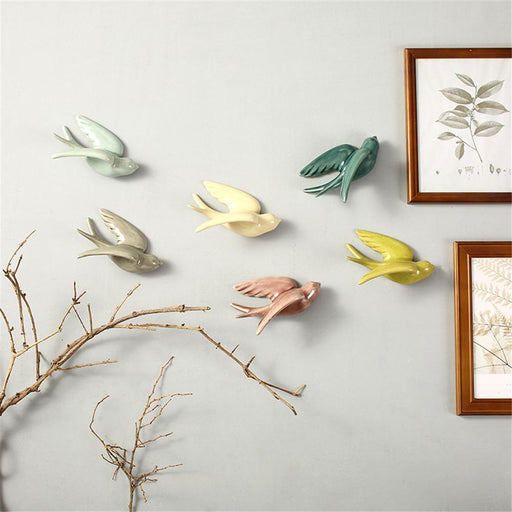 Wall Sculptures - 3D Birds Wall Decoration Vintage Accessories Sculpture Statue