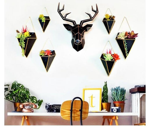 Wall Sculptures - 3D Modern Deer Head Home Wall Hanging Sculpture