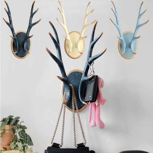 Wall Sculptures - Modern Home Decor Horn Statue Coat Hanger Sculpture Ornaments