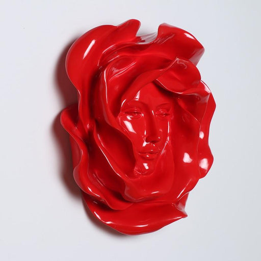 Wall Sculptures - Rose Abstract Figure Statue Wall Resin Sculpture Craft