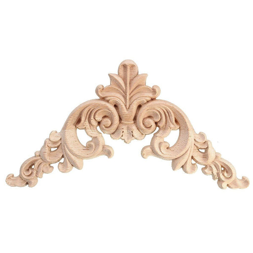Wood Furniture Onlays - 4 PCS Rubber Oak Wood Carvner Corner Applique Onlay
