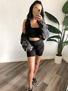 Emory Biker Shorts Set (Black)