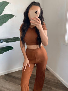 Jessa Pant Set (Rust)