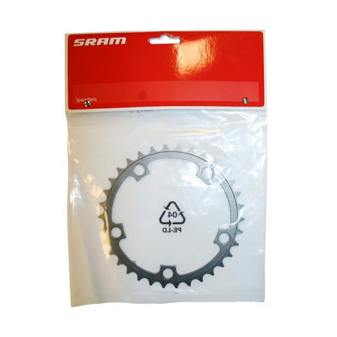 SRAM : Chainring Road 34t 5 Bolt 110mm BCD Alum (50-34) 3mm Tungsten Grey