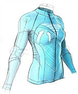 X-Bionic : Biking Lady Effektor Power OW Bib Shirt (Long Sleeve)