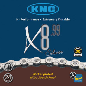 KMC : X8-99 Silver Chain 116L 7.3mm