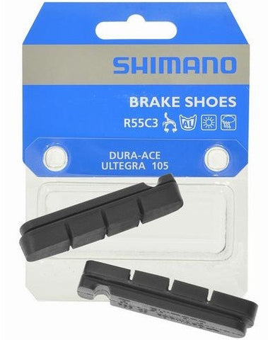 Shimano: Brake Pad Inserts for Carbon Rim R55C3 Dura-Ace /Ultegra /105