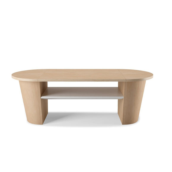 Woodrow Coffee Table - White-Natural