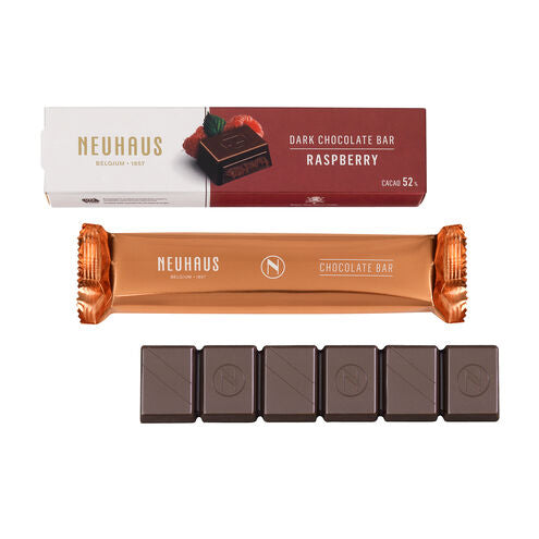 Neuhaus Dark Chocolate Raspberry Bar on The Go
