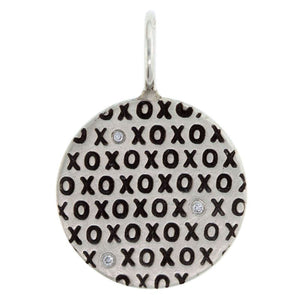 Heather B. Moore - XOXO Diamond Round Charm